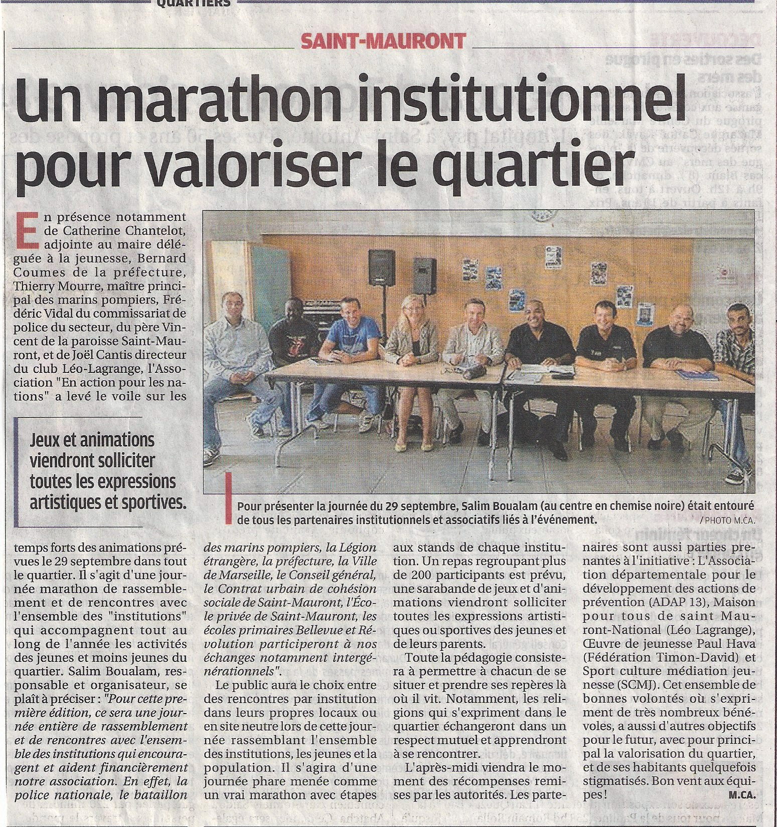 article La Provence - 2012